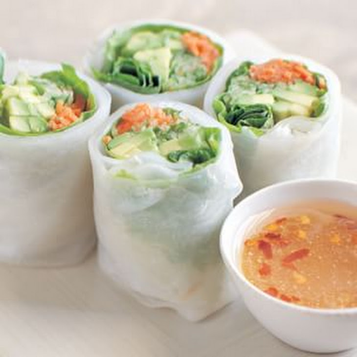 Cucumber and Avocado Summer Rolls with Mustard-Soy Sauce Recept ...