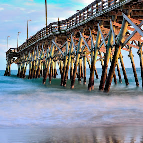 by Patricia Warren - Buildings & Architecture Bridges & Suspended Structures ( sand, waves, pier, sea, ocean, beach,  )