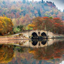 Bridge at Invarary Scotland  by Mandy Deer - Landscapes Waterscapes ( invarary scotland bridge )