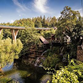 Rastoke by Vedran Bozicevic - City,  Street & Park  Vistas ( sky, rastoke, nature, waterscape, waterfall, croatia, travel, landscape, slunj )