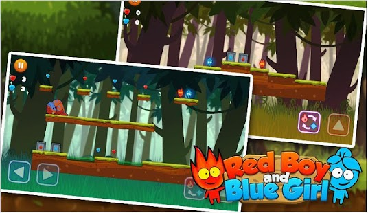 Red boy and Blue girl in Forest Temple Maze