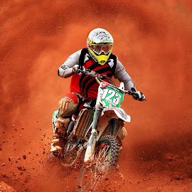 Out of the dust by Ricardo Q. T. Rodrigues - Sports & Fitness Motorsports ( motocross, dust, motorcycle, motorsport, out of the dust )