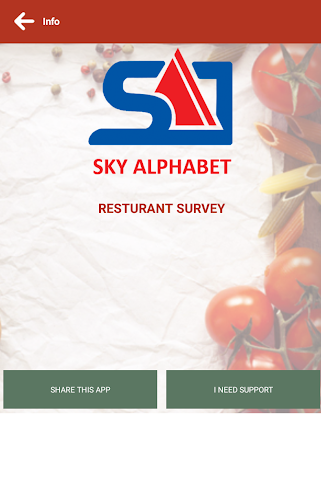 android SA RESTAURANT SURVEYS Screenshot 0