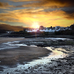 Watch House Bay ,Barry by Lisa Wilmot - Landscapes Beaches ( relax, tranquil, relaxing, tranquility )