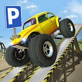 Obstacle Course Car Parking Icon