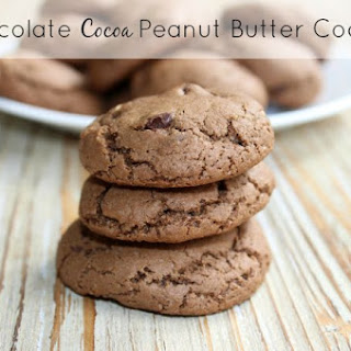 Chocolate Cocoa Peanut Butter Cookies