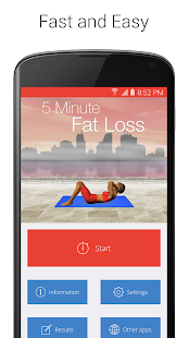 5 Minute Fat Loss Fitness app screenshot for Android