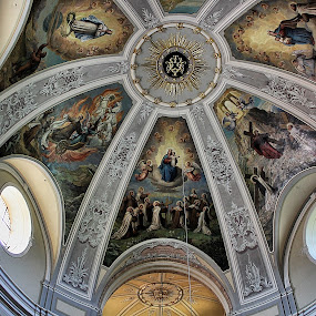 The Beautiful Ceiling by Ingrid Dendievel - Buildings & Architecture Architectural Detail ( hungary, detail, gyor, church, architecture )