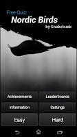 Screenshot of Free Quiz: Nordic Birds