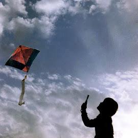 Look dad, kite is flying by Rakesh Syal - Babies & Children Children Candids
