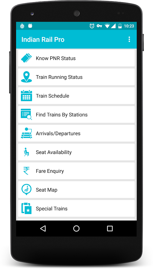 Indian Rail Info App PRO Screenshot 0