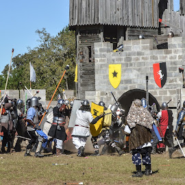 Seige by Brian Box - Sports & Fitness Other Sports ( fighters, sca, battle, fight, seige, weapon, armor )