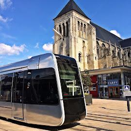 A tram called faith by Dobrin Anca - Instagram & Mobile iPhone ( prayer, church, street, tram )