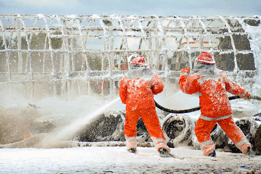 Firefighters by Adika Amsani - News & Events World Events