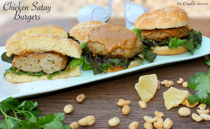 Chicken Satay Burgers Recipe | Yummly