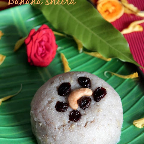 Banana Sheera Recipe, Rava Sheera Recipe With Banana