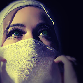 Veiling girl by Cevi Permana - People Portraits of Women