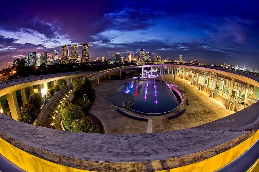 MARINA BARRAGE @ SINGAPORE by Y.Z Lim - City,  Street & Park  Vistas