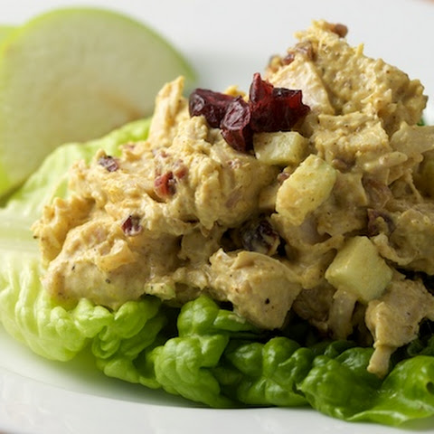Curried Turkey Salad with Apples, Cranberries and Walnuts