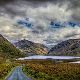 Doo Lough by Jim Hamel - Landscapes Mountains & Hills ( connemara, mountains, ireland, doo lough, county mayo )