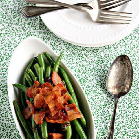 Sauteed Green Beans with Triple Ale Onion and Bacon