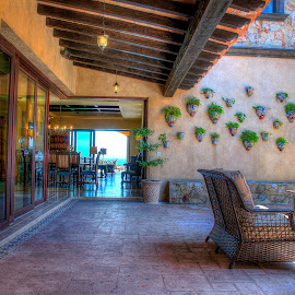 Welcome Home by Carlos Parajon - Buildings & Architecture Homes ( decor, home, bench, cabo san lucas, culture, artwork, dessert )