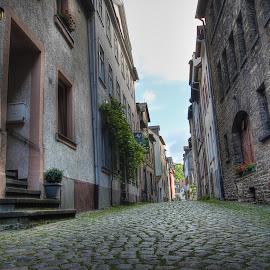 The Narrow Cobblestone Streets by Eric Demattos - Buildings & Architecture Homes ( eric demattos, streets, cobblestone )