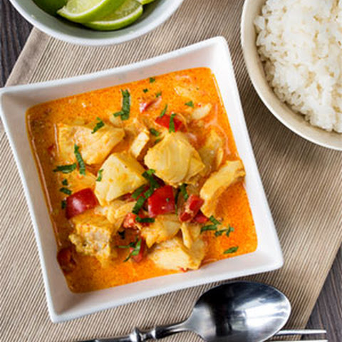 Curry Cod with Bell Pepper