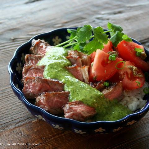 Steak Tomato Rice Bowl