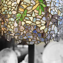 Tiffany Lamp  by Lorraine D.  Heaney - Artistic Objects Glass