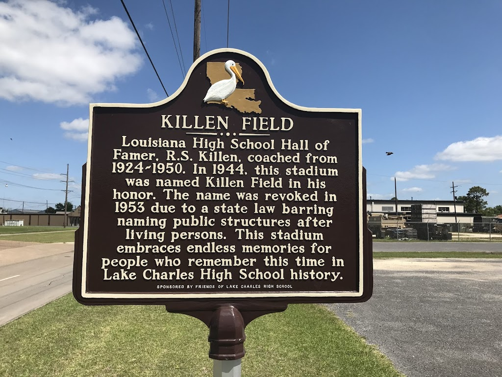 Louisiana High School Hall of Famer, R.S. Killen, coached from 1924-1950. In 1944, this stadium was named Killen Field in his honor. The name was revoked in 1953 due to a state law barring naming ...