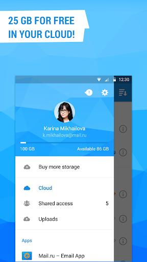 Cloud Mail.Ru - screenshot