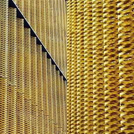 The Car Park  by Brian Egerton - Abstract Patterns ( patterns, metal, abstract, abstract photography, architecture )