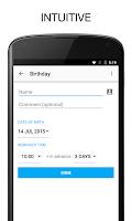 Screenshot of BZ Reminder