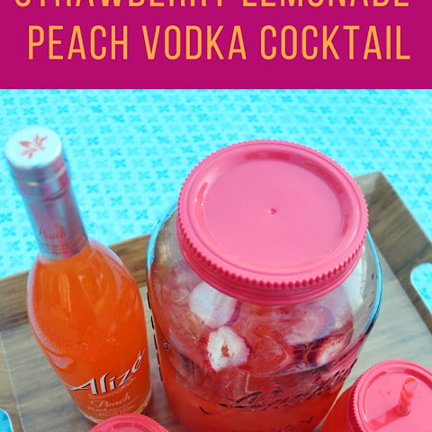 Peach Strawberry Lemonade Cocktail