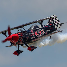 Downhill... by Greg Harrison - Transportation Airplanes ( quad city airshow, air show performance, carbon fiber, skip stewart, air show )