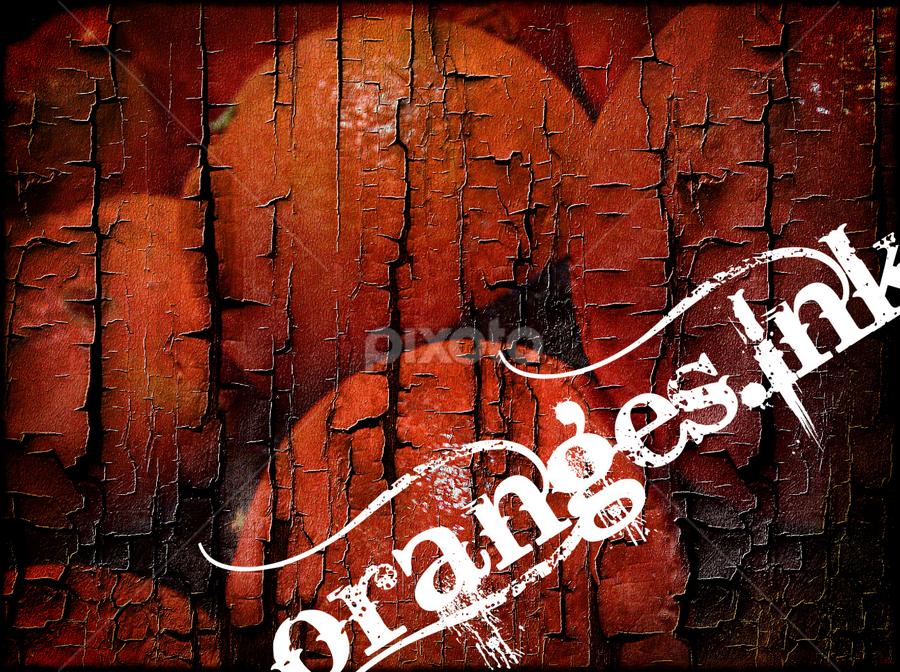 o.I Cracked by Brandon Rose - Logos All Logos ( logo, orange, graphic, oranges, design, ink )