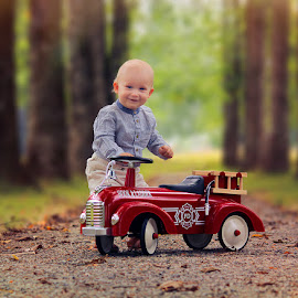 Little fireman  by Jane Bjerkli - Babies & Children Toddlers