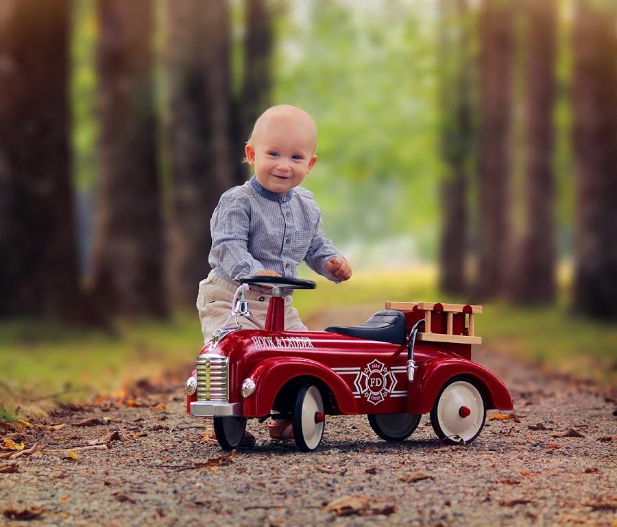 Little fireman  by Jane Bjerkli - Babies & Children Toddlers