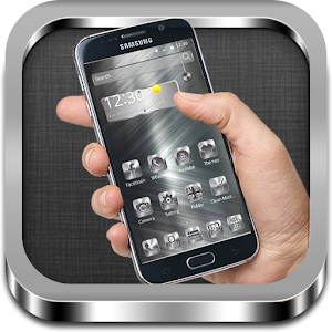 Theme silver stripe beautiful for Android