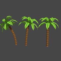 Palm tree (3 versions)