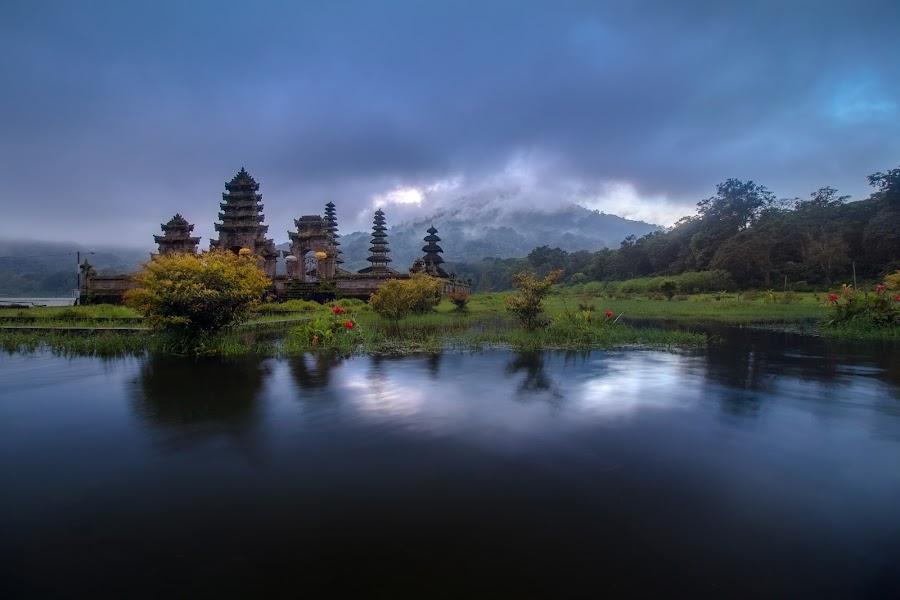 Pura Ulun Danu Tamblingan, Bali. by Jimmy Kohar - Landscapes Travel ( temple, bali, mountain, waterscape )