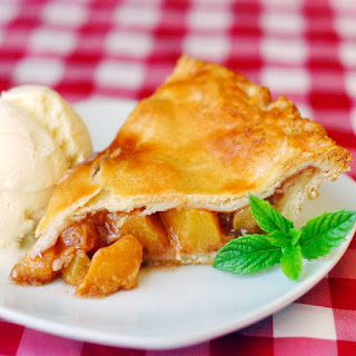 Peach Pie with Sour Cream Pastry Crust