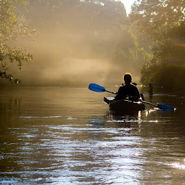 Morning on the River by Alan Rossnagel - Sports & Fitness Watersports ( weeki wachi, nature, florida, river, kayak, boat )