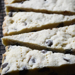 Bittersweet Chocolate Chip Shortbread