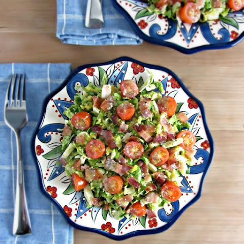 Brussels Sprouts, Bacon, & Tomato Salad