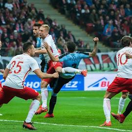 Poland vs. Uruguay by Paweł Mielko - Sports & Fitness Soccer/Association football ( polish team, press, football, sport, sport photography, soccer, uruguway, poland,  )
