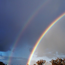 Rainbow by Sarah Harding - Novices Only Landscapes ( nature, outdoors, novices only, weather, rainbow )