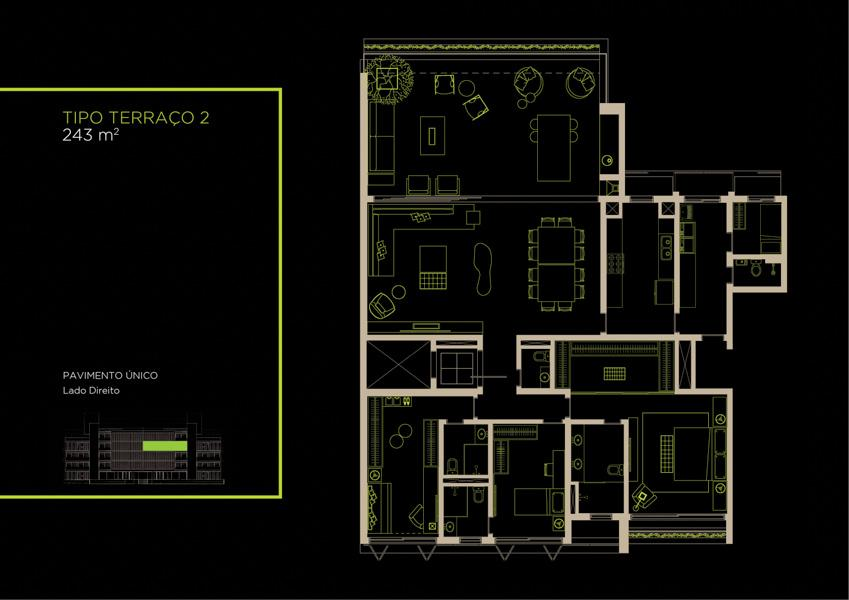 Apto Tipo (32B) - 243 m²