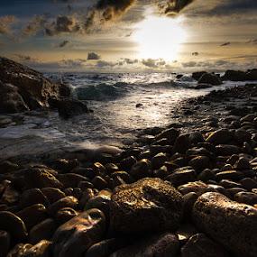 Golden dusk II by Petar Lupic - Landscapes Weather